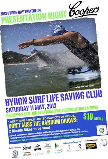 by13 presentation The 18th Byron Bay Triathlon Saturday May 11th & Sunday 12th