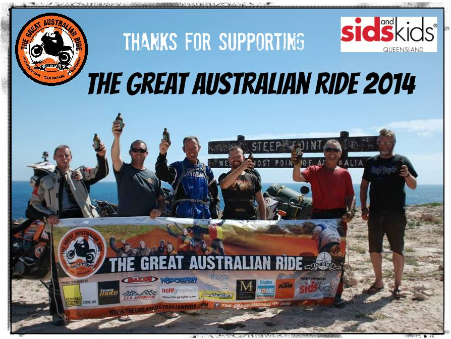 GAR Supporters Photo The Great Australian Ride Kicks off in Byron Bay August 9