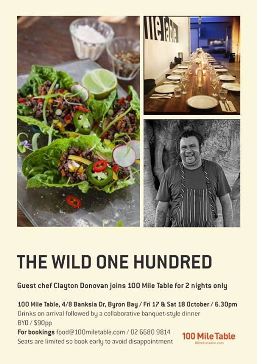 10436689 862920513732035 7299815198479939178 n Chef Clayton Donovan Joins 100 Mile Table 17 & 18 October