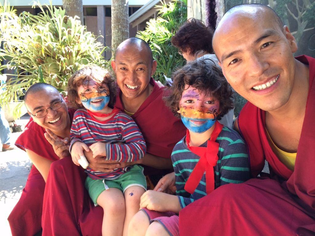 Gyuto monks and kids