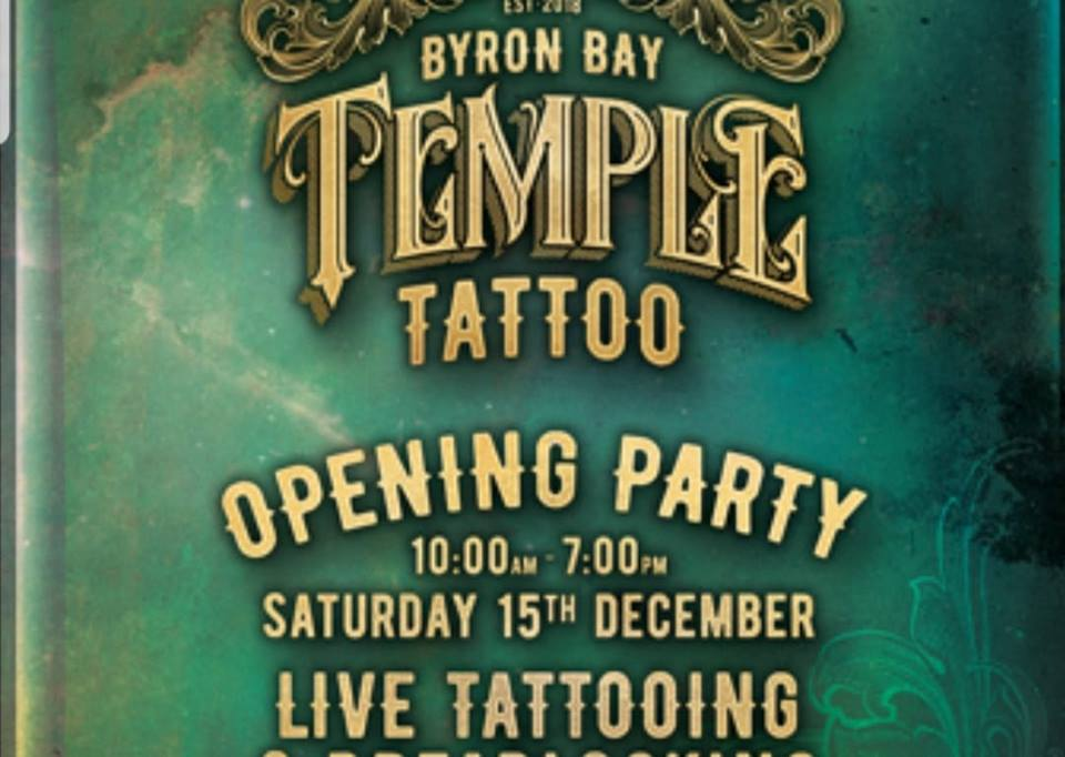 Temple Tattoo Opening Party Byron Bay Blog